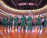 Boston, MA - June 3: The Boston Celtics line up in Game Four of the Eastern Conference Finals Photographic Print by Jesse D. Garrabrant