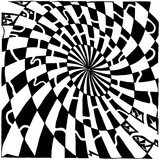 Oval Dart Board Style Maze Affiches par Yonatan Frimer