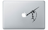 La main de l'artiste, sticker pour Mac Stickers pour ordinateurs portables