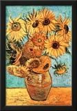Vincent Van Gogh (Vase with Twelve Sunflowers ) Art Poster Print Posters
