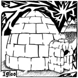 I is for Igloo Maze Posters par Yonatan Frimer