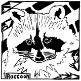Learn to a Maze R is for Raccoon Affiches par Yonatan Frimer