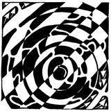 Number Six 6 Maze Poster par Yonatan Frimer