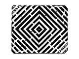 Diamond Square Optical Illusion Maze Art Psyc Art by Yonatan Frimer