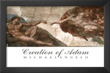 Creation of Adam (Full) Michaelangelo ART PRINT POSTER Prints