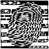 Finger Print Scanner Maze Posters par Yonatan Frimer