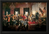 Howard Chandler Christy Scene at the Signing of the Constitution Art Poster Print Print