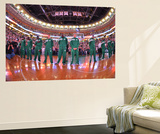 Boston, MA - June 3: The Boston Celtics line up in Game Four of the Eastern Conference Finals Wall Mural by Jesse D. Garrabrant