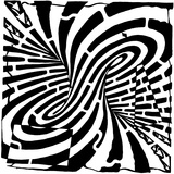 Mobius Strip Edge Maze Maze Optical Illusion Posters by Yonatan Frimer