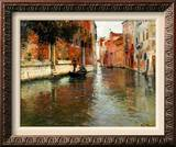 A Venetian Backwater Framed Canvas Print by Fritz Thaulow