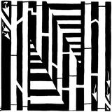 Maze of Uppercase N Poster par Yonatan Frimer