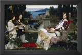 John William Waterhouse Saint Cecilia Art Print Poster Posters
