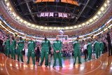 Boston, MA - June 3: The Boston Celtics line up in Game Four of the Eastern Conference Finals Photographie par Jesse D. Garrabrant