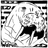 Learn to a Maze W is for Walrus Print by Yonatan Frimer