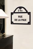 The Sign -Paris Rue de la Paix - Duvar Çıkartması