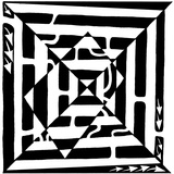 A1 Monolith Optical Illusion Maze Print by Yonatan Frimer
