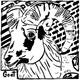 G is for Goat Maze Print by Yonatan Frimer