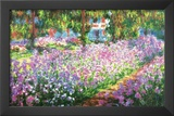 Claude Monet (Garden at Giverny) Art Print Poster Prints