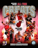 Miami Heat All Time Greats Composite Photographie