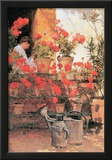 Childe Hassam Red Geraniums Art Print Poster Posters