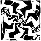 A Swirly Centered Trippy Paparazzi Maze Prints by Yonatan Frimer