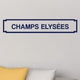 Paris Champs Elysees Metro Sign Wall Decal