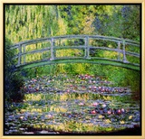 Estanque de nenúfares con puente japonés, 1899 Reproducción en lienzo enmarcado por Claude Monet