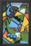 Juan Gris Landscape with Houses in Ceret Cubism Art Print Poster Prints