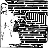 Black Snake Maze Art par Yonatan Frimer