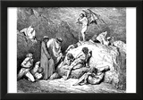 "Gustave Doré (Illustration to Dante's ""Divine Comedy,"" Inferno - Sowers of Dischord) Art Poster Pri Prints"