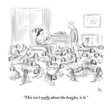"""This isn't really about the beagles, is it."" - New Yorker Cartoon Premium Giclee Print by Paul Noth"
