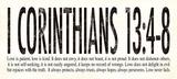 1. korintherbrev 13:4-8, på engelsk Poster af Stephanie Marrott