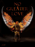 No Greater Love Fireman Posters by Jason Bullard