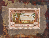 Senegal Stamp Affiches par Ann Walker