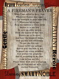 Firefighter's Prayer Poster by Lisa Wolk