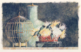 Still Life W/Golden Birdcage Prints by C. C. Wilson