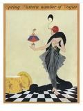 Vogue Cover - March 1914 Giclée-tryk af Helen Dryden