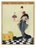 Vogue Cover - March 1914 Regular Giclee Print by Helen Dryden