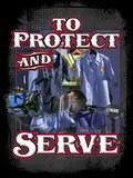 Protect and Serve Poster by Jim Baldwin