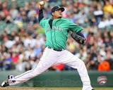 Felix Hernandez 2012 Action Photo