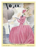 Vogue Cover - April 1927 Premium Giclee Print by William Bolin