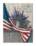 Flag & Purple Flowers Posters par T. C. Chiu