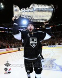 Drew Doughty with the Stanley Cup Trophy after Winning Game 6 of the 2012 Stanley Cup Finals Photo