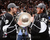 Drew Doughty & Jonathan Quick with the Stanley Cup Trophy after Winning Game Stanley Cup Finals Photo