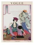 Vogue Cover - January 1920 Regular Giclee Print by Helen Dryden