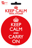 Keep Calm And Carry On Vinyl Sticker Stickers