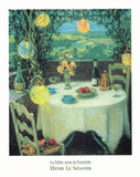 La Table Sous La Tonnelle Prints by Henri LeSidaner