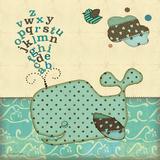 Alfabeto de ballena Pósters por Jo Moulton