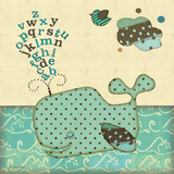 Alphabet Whale Posters by Jo Moulton