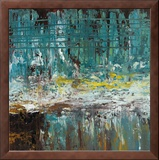 Deep Waters II Framed Canvas Print by Jack Roth